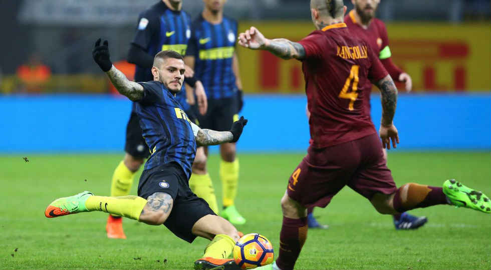 hasil inter milan vs as roma 2017
